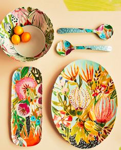 Melamine crockery by Lulie Wallace. Visit houseandleisure.co.za for more