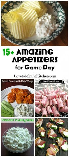 15+ Amazing Appetizers for Game Day! #superbowl #gameday #appetizers