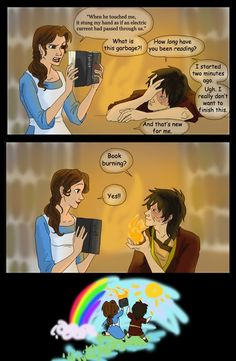This is the most random thing ever, but I like it.      Zuko and Belle