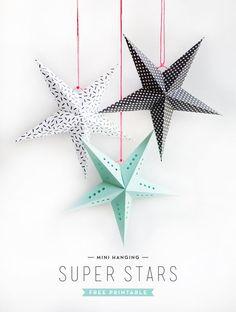 FREE Printable Mini Paper Stars