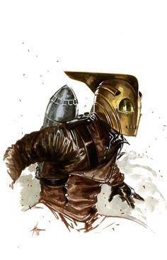 """Cartoons And Heroes — gabrieledellotto:   """"Rocketeer sketch"""""""