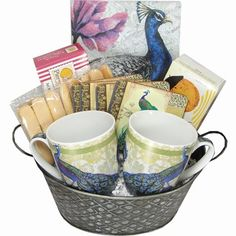 Gift Baskets - Pin it :-) Follow us, CLICK IMAGE TWICE for Pricing and Info . SEE A LARGER SELECTION of gift baskets at http://azgiftideas.com/product-category/gift-baskets/ - gift ideas , gift set -  Large Peacock Themed Gift Basket