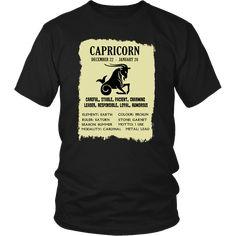 Capricorn Zodiac Gift - Birthday Gift T-Shirt