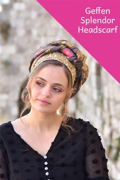"""🌻🌺A charming headscarf gold purple sparkles. Headscarf Tichel handmade """"Mitpachat"""" Head Covering, Scarf, Tichel, fashionable and comfortable. Beautiful color design! #turban #headwraps #hairstyles#headband #modestfashion #makeuptutorial #makeup #haircut #scarf #headscarf #tutorial #tutorialmakeup #videosfashions #easyhairstyles #badhairday Purple Sparkle, Purple Gold, Bad Hair Day, Outfit Posts, Modest Fashion, Easy Hairstyles, Fabric Design, Awesome Gifts, Compliments"""