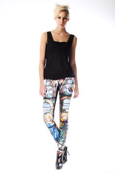 These leggings with a loose shirt and cutoff shorts? I think so