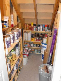 Add shelves under the stairs. Maybe not store flammable items there, though.