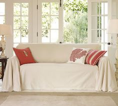 Drop Cloth Couch Cover