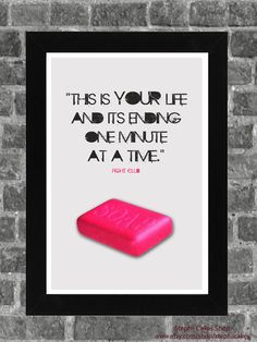 Inspiring Grey Fight Club Movie Quote Print 11X17. $8.50, via Etsy.