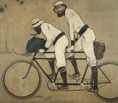 El MNAC proposa una de les seves obres emblemàtiques: 'Ramon Casas i Pere Romeu en un tàndem', de Ramon Casas, 1897.