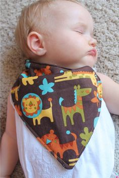 Sew Love It: Tutorial: Bandanna drool bib..plan to get these started in december..must dig out the sewing machine!