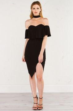 HOPEFUL ROMANTIC OFF THE SHOULDER DRESS