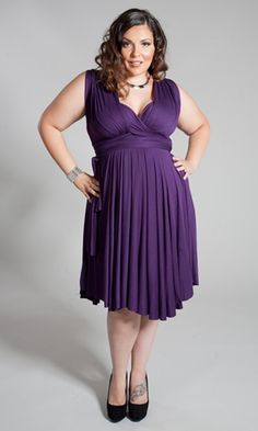 "Interchangeable wrap dress.  Has been on my ""want"" list for ages.  You can wear it as many ways as your imagination lets you.  I've also seen a lot these used as bridesmaids dresses."