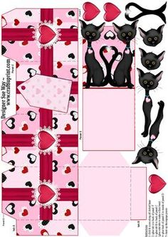 The Love Cats Party Favour Place Setting Gift Box