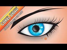 Tutorial de Corel Draw - Como hacer un ojo - herramientas de recorte - YouTube Spiderman, Draw, Superhero, Computers, Movie Posters, Youtube, How To Make, Cut Outs, Tools