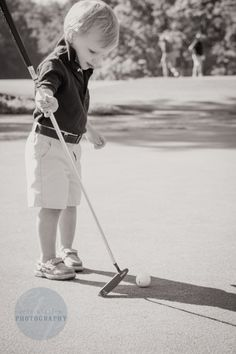 Toddler Photography | Erin Killion Photography - love, golf, just like daddy, practicing, golf club , two year old, putting green, polo shirt