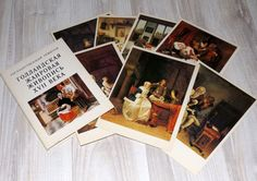 Set of 14 vintage postcards of XVII age Netherland by LupusShop #integritytt