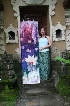 At Bali Retreat 2009 workshop with Anahata & Arcangelo Productions in Amed, Bali. Collages, Collage Art, Art N Craft, Panel Art, Assemblage Art, Art Journal Inspiration, Whimsical Art, Textiles, Teaching Art