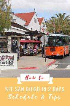 How to see San Diego in 2 days. Take a San Diego Trolley Tour through Old Town, Balboa Park, Little Italy, Coronado Island, and more! Visiting San Diego California? Here's your perfect San Diego California tour guide!