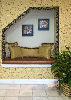 Traditional Laundry Room : Media Rooms, Understair, Coat Hooks, Nook Seat, Under Stair Shelving, Basement Finishing Ideas