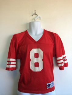 Vintage San Francisco 49ERS Jersey  90s STEVE YOUNG  8 Forty Niners Made in  UsA Champion Nylon Mesh Jersey  Football Youth Size Large 14-16 3d37123d4