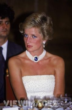 Sapphire brooch given to Diana as a wedding gift from the Queen Mother.