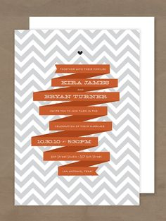 Super dang cute. chevron invitation