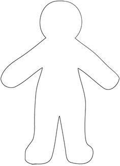 blank paper doll template for God Made Me craft  god made me