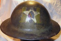 WWI 2nd Battalion 2nd Engineers 2nd Division Helmet