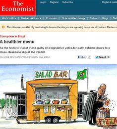 """Site da revista inglesa """"The Economist"""", que publicou reportagem elogiando Judiciário brasileiro"""
