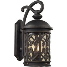 Tuscany Coast Medium Outdoor Wall Lantern (£335) ❤ liked on Polyvore featuring home, outdoors, outdoor lighting, wall outdoor lighting, outside lanterns, outdoor lanterns, outdoor wall lights and wall mount lantern