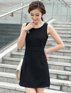 OL Style Pure Color Tank Dress for Women | Item Code 708715 at M.EastClothes.com