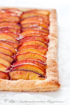 Rustic tart with nectarines Martha Stewart - Trattoria da Martina - traditional cuisine, regional and ethnic