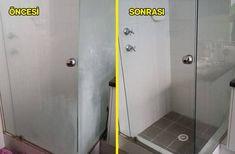 duşakabin temizliği öncesi sonrası