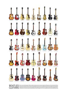 Beatles Guitars - all of them! - on Behance