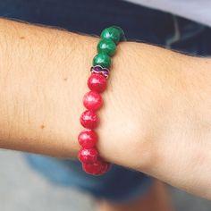Strawberry and Mint bracelet, exclusive design ZERO NONO | www.zeronono.com