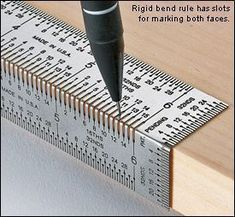 A perforated ruler for accurately measuring wood before cutting. #woodworkingtips