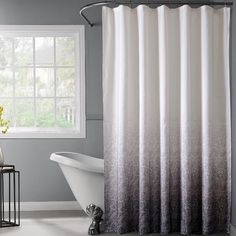 Found it at AllModern - Lace Ombre Shower Curtain