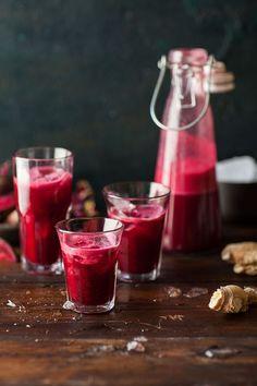 Smoothie de betterave, pomme et gingembre - Vive le pink smoothie à la betterave ! - Elle à Table