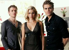 Joseph Morgan, Claire Holt and Paul Wesley  #TheVampireDiaries #TheOriginals