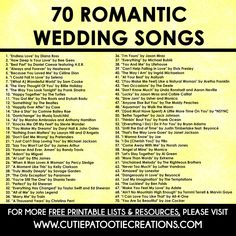 From slow to fast, R&B to country and everything in between, these are the most romantic wedding songs of all time. From slow to fast, R&B to country and everything in between, these are the most romantic wedding songs of all time. Modern Wedding Songs, Romantic Wedding Songs, First Dance Wedding Songs, Country Wedding Songs, Wedding Music, Wedding Photos, Country Love Songs, Love Songs For Weddings, Country Weddings