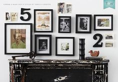 How to hang a group of pictures, on the Temple  Webster blog. These frames are by Corban  Blair.