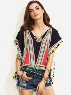 Hi all. I'm sharing some cute styles from Shein      TASSELS LOVER       Multicolor tassels