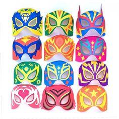 Printable DIY lucha libre mask designs