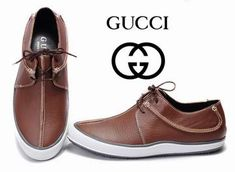 Luv a man in a pair of these....Gucci Khaki Lace Up Casual Sneakers for men