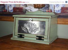 SALE 12 off thru Feb 1 Bread Box Shabby Chic by RedBudPrimitives, $65.96