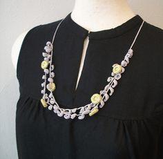 crochet necklace keine Anleitung, nur als Inspiration