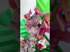 Origami Bonsai, Hortênsia e Vaso Florido Origami, Bonsai, Flower Arrangements, Paper Crafts, Gift Wrapping, Gifts, Papercraft, Vases, Flowers