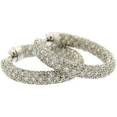 Preowned Impressive Leo Pizzo Diamond Gold Hoop Earrings ($2,600) ❤ liked on Polyvore featuring jewelry, earrings, multiple, earring jewelry, yellow gold jewelry, gold earrings jewelry, diamond jewellery and gold hoop earrings