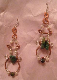 Copper Quarry Earrings 1. $32.00, via Etsy.