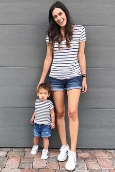 Fun Mommy and Me Outfit Ideas picture 5 Mother Son Matching Outfits, Mom And Son Outfits, Twin Outfits, Kids Outfits, Mommy And Son, Mom Son, Kids Fashion, Children Wear, Maternity